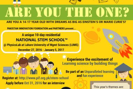 Registration Form: National STEM School (Scroll Below)